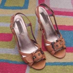 Steve Madden Tan Heeled Sandals